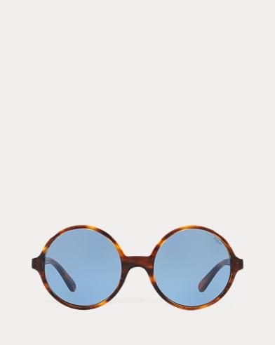 Übergroße runde Sonnenbrille
