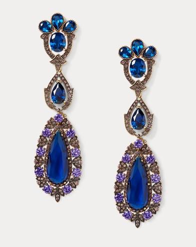 Long Drop Chandelier Earrings