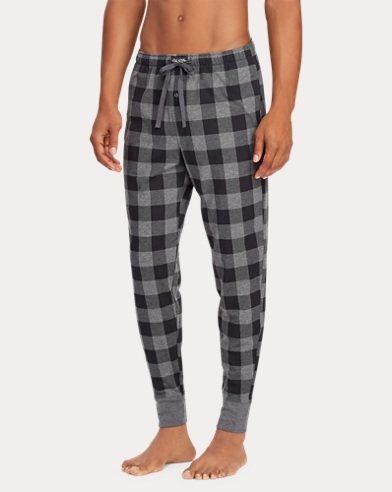 Checked Cotton Jogger
