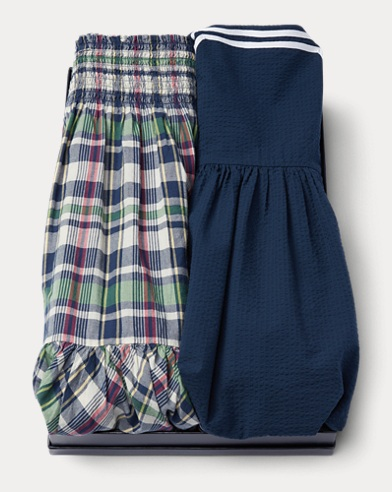 Cotton Dress 2-Piece Gift Set