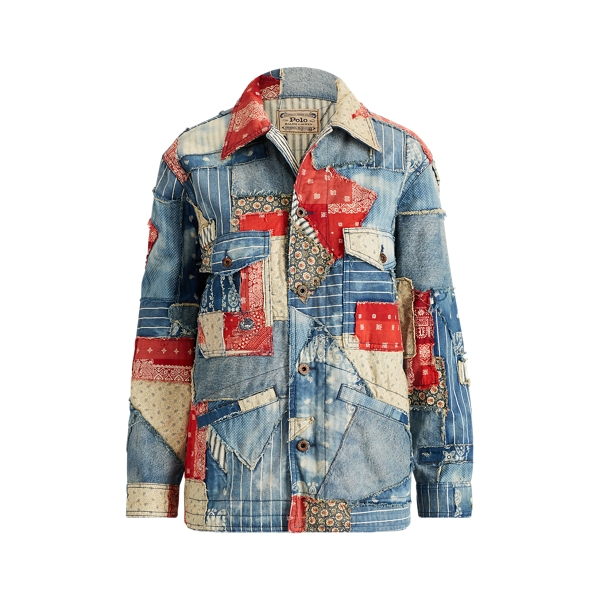 Ralph Lauren Patchwork Denim Jacket Patchwork M