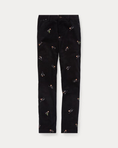 Slim Polo Bear Corduroy Pant