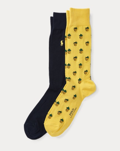Pineapple Trouser Sock 2-Pack