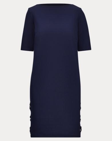 Lace-Up Ponte Dress