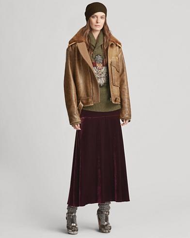 Zayna Velvet Skirt
