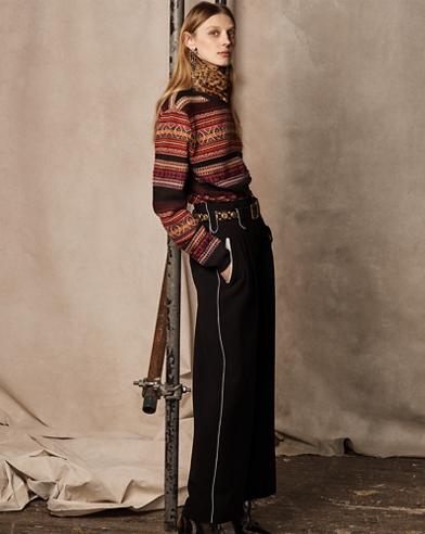Cashmere-Wool Crewneck Sweater