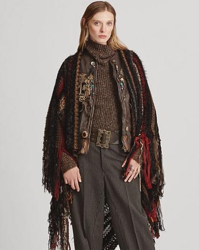 Wool-Blend Blanket Poncho
