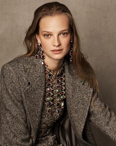 Bernette Donegal Tweed Coat