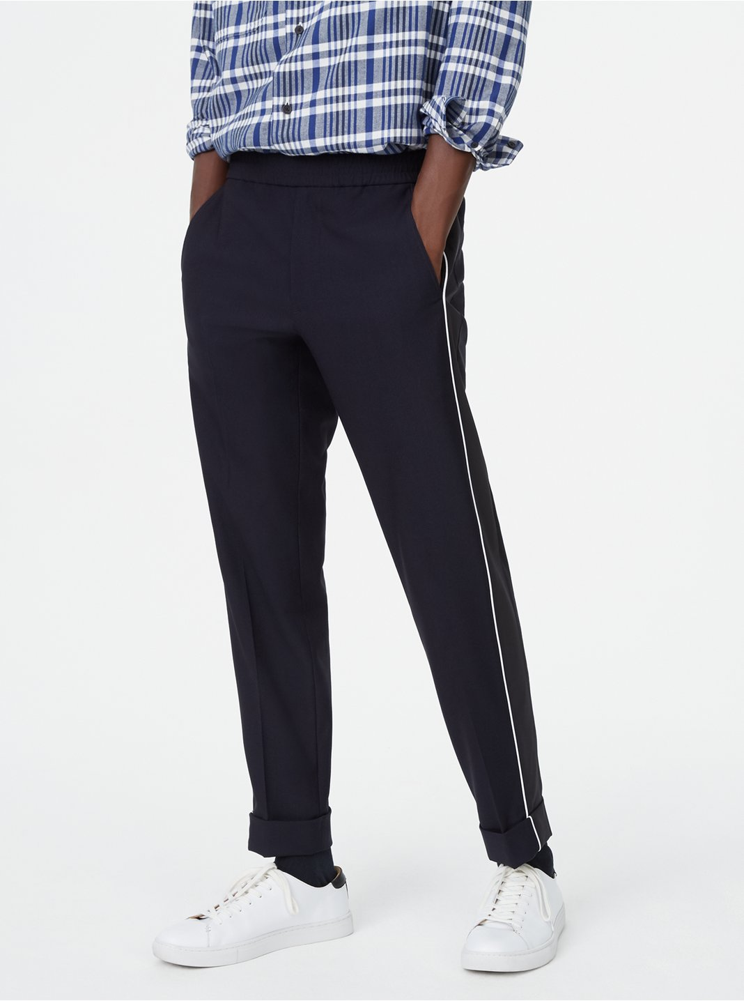 Piped Elastic Pant