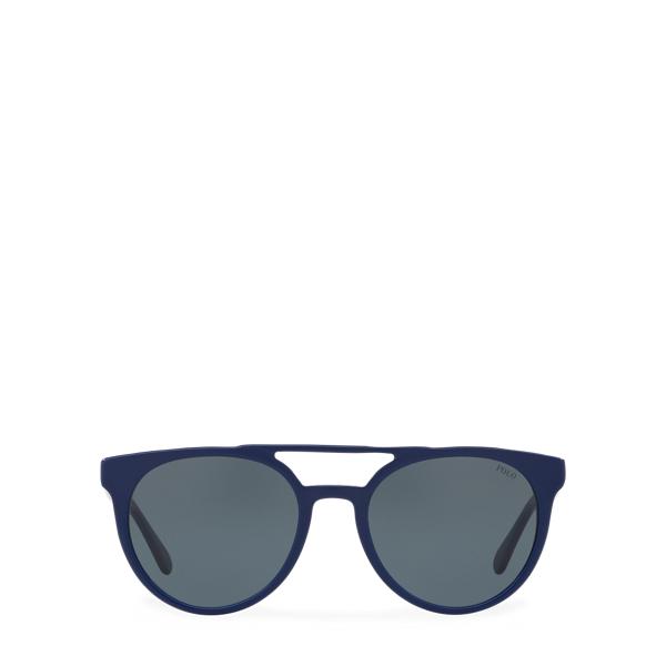 Ralph Lauren Keyhole-Bridge Sunglasses Vintage Navy Blue One Size