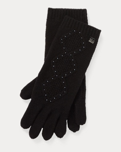 Cable-Knit Tech Gloves