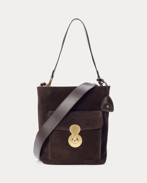 6ed2200d7027 Ralph Lauren Calf-Suede RL Bucket Bag 1