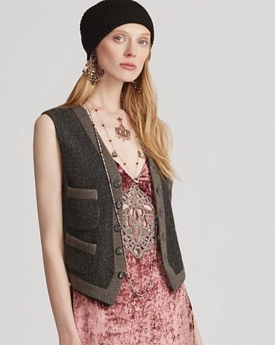 Button-Front Cashmere Vest
