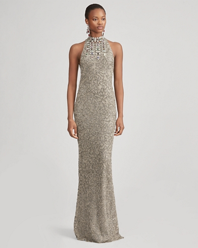 Grayden Beaded Evening Dress