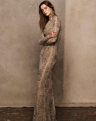 Hamlin Beaded Evening Dress