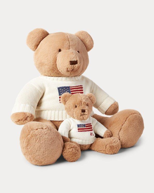 Large Flag-Sweater Polo Bear