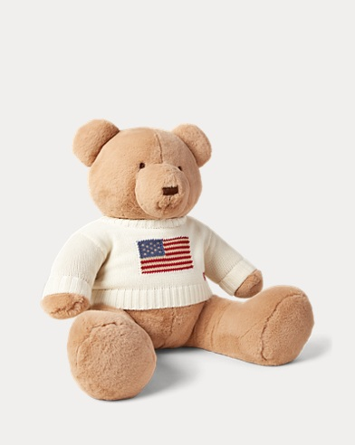 Large Flag-Sweater Polo Bear