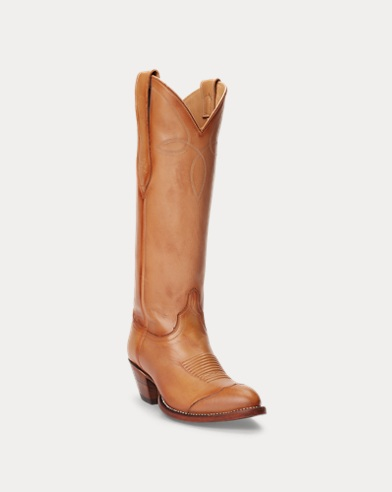 Kiera Leather Cowboy Boot. color (2)  Tan · Honey. Polo Ralph Lauren 5bdb4d8ef6e