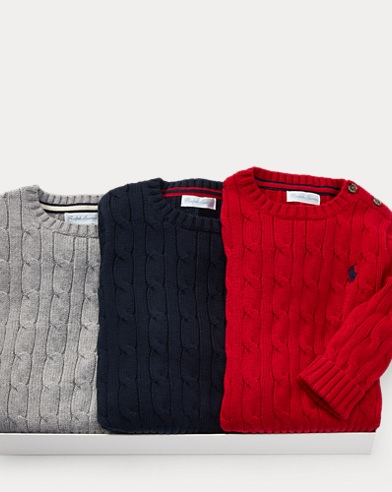 Cable Sweater 3-Piece Gift Set