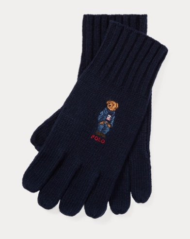 Polo Bear Knit Gloves