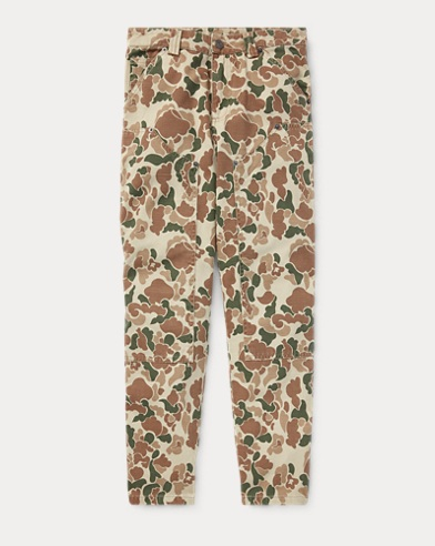 Camo Cotton Carpenter Trouser