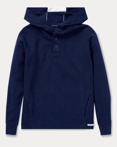 Cotton-Blend-Pique Hoodie