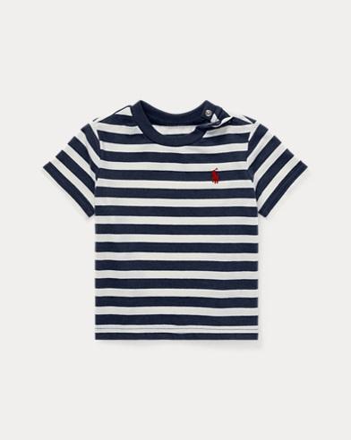 Gestreiftes Jersey-T-Shirt