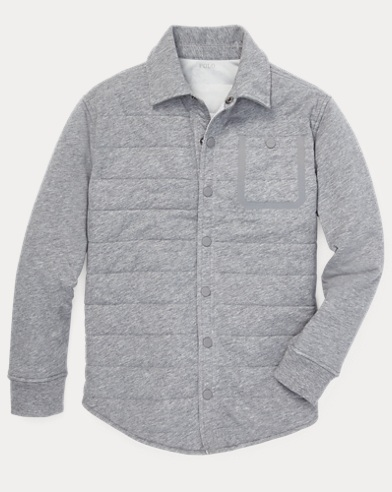Quilted Jersey Shirt Jacket