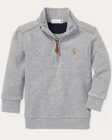 Cotton Half-Zip Pullover