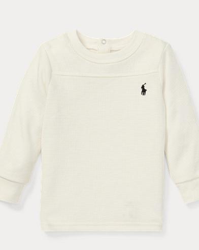 Waffle-Knit Crewneck T-Shirt