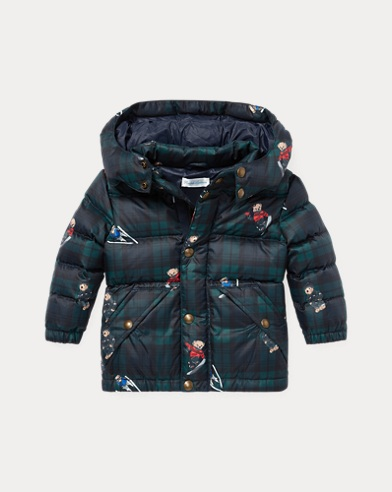 Polo Bear Plaid Down Jacket