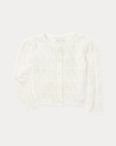 Pointelle Cotton Cardigan