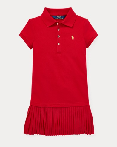 Pleated Polo Dress