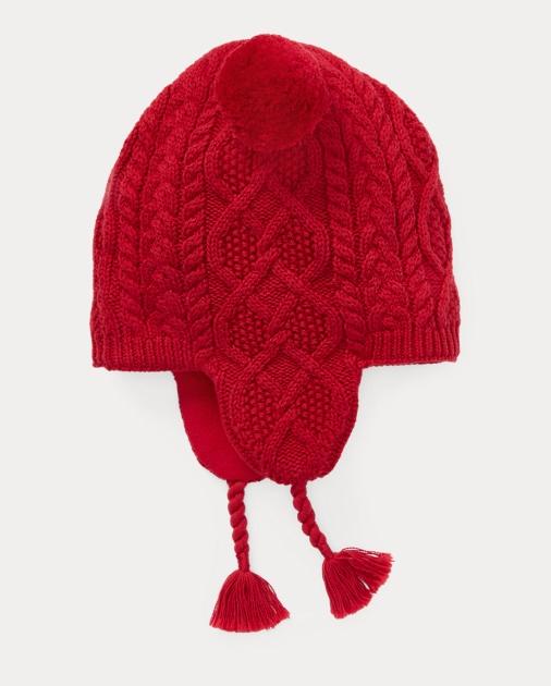 3e8e9e05b4c Girls 2-6x Aran-Knit Earflap Hat 1