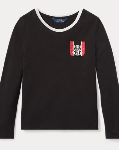 Embroidered-Crest T-Shirt