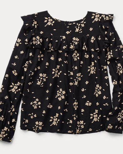 Floral Ruffled Top