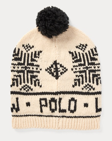 Polo Snowflake Pom-Pom Hat