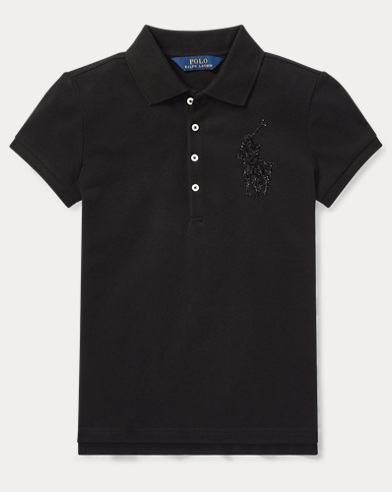 Sequined Big Pony Polo Shirt