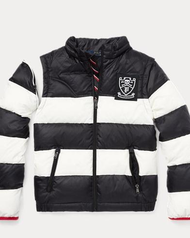 2-in-1 Striped Down Jacket