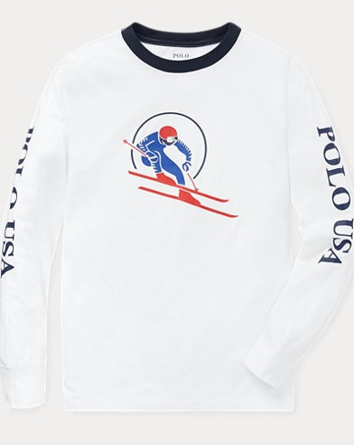 Downhill Skier Cotton T-Shirt