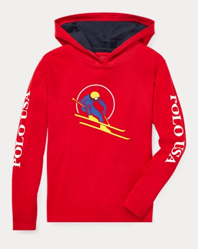 Downhill Skier Hooded T-Shirt