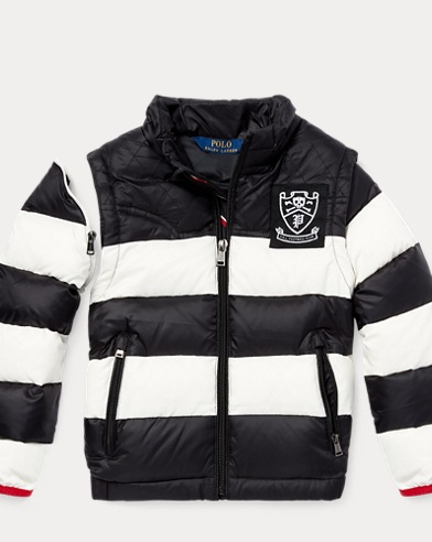 2-in-1 Striped Down Jacket