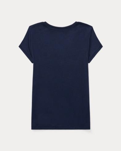 4cb1be5add8b8 T-shirt col en V en coton et modal. FILLES DE 7 À 14 ANS