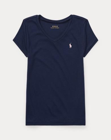 T-shirt col enV en coton et modal