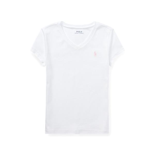 폴로 랄프로렌 Polo Ralph Lauren Jersey V Neck T Shirt,White