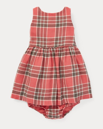 Plaid Fit-and-Flare Dress