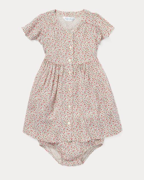 baa7f795a61f1 Baby Girl Robe et bloomer à fleurs 1