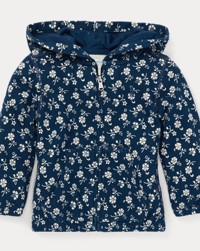 Floral French Terry Hoodie