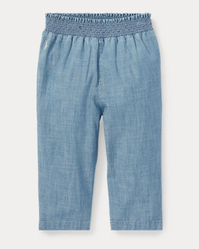 Pantalon à enfiler en chambray