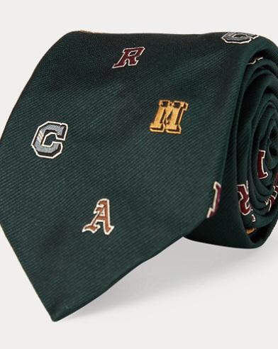 Letterman Silk Narrow Tie